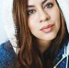 La Groupie du Pianiste. (www.juliadavilalampe.com) Tags: selfie face eyes me white coat ecuadorian latin girl woman indoors studio hair smile latina window square selfportrait autorretrato viajeconjulia