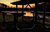 Picnic Table Blues (Wes Iversen) Tags: benchmonday brighton hbm kensingtonmetropark michigan milford nikkor24120mm benches grass lakes picnictables sunsets trees water