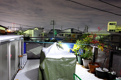 After the snow (hidesax) Tags: afterthesnow home roof balcony snow night ageo saitama japan hidesax leica x vario