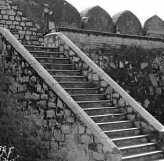 fort stairs (xerx_pictive) Tags: stone carving temples proportion shapes