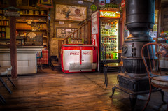 Antique Coke Machines and Antique Stove (donnieking1811) Tags: tennessee granville cocacola coke 7up johndeere potbellystove store stores interiors canon 60d tbsuttonstore hdrpro hdrnoholdsbarred
