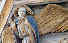 Detail of Angel: Claus Sluter, Well of Moses, 1395-1405