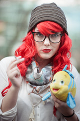 Hipster Ariel (Kuya-El) Tags: seattle ariel cosplay hipster littlemermaid sakuracon d700 85mmf14dif sakuracon2012