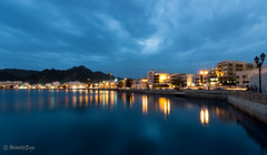 Muscat - Blue Hour (Beauty Eye) Tags: city longexposure nightphotography sunset sea mountain seascape building green eye architecture night photoshop canon dark landscape eos rebel landscapes long exposure day seascapes nightshot outdoor royal scene adobe bluehour om tamron oman muscat souq 2012 lightroom t3i mct mutrah  matrah cameraraw ultrawideangle   f3545 600d    beautyeye masqat 1024mm   canon600d  sultanqaboosport tamronspaf1024mmf3545diiild rebelt3i kissx5 diiild canon600deos tamronspaf1024mmf3545d muscatsultanqabooscornich