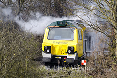A closer view of 70018 on fire. (Adrian Williams | P H O T O G R A P H Y) Tags: train fire ash service winchester freight brigade freightliner wallers micheldever 70018