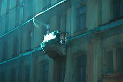 """Riga Altstadt Lettland """"verhüllter altbau zur renovierung"""""""