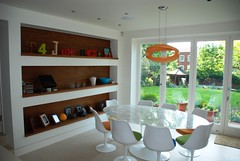 """Parkhill Open plan kitchen diner with feature bookcase 274 • <a style=""""font-size:0.8em;"""" href=""""https://www.flickr.com/photos/77639611@N03/7057561501/"""" target=""""_blank"""">View on Flickr</a>"""