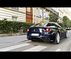 Ferrari FF (Gskill photographie) Tags: plaza blue paris france italian raw ferrari ff supercar hdr montaigne v12 sportcar photomatix gskill 60d