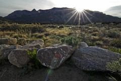 The Sandia Sunrise (J Labrador) Tags: travel light usa mountain newmexico sunrise landscape photography nikon albuquerque flare san