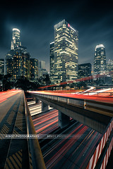 Los Angeles (Beboy_photographies) Tags: bridge building losangeles los angeles mark district iii voiture pont 5d financial nuit hdr immeuble photographies beboy 5dmarkiii
