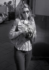 Woman with Pet Ferret (StreetShooter45) Tags: film westpalmbeach orchidworks voightlanderbessar colorskopar35mmf25 womanwithpetferret