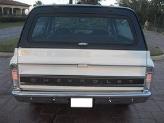 71K5Blazer_2k_rear (Monaco Luxury) Tags: auto bar 1971 ps pb stereo chevy 350 roll custom blazer resto k5 pristine frameoff