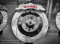 Massive Brembo Brakes Calipers and Discs (Winning Agent) Tags: wheel performance cal brakes brake disc aftermarket stopping caliper braking