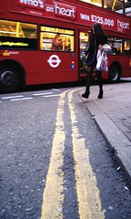 Blurred Lines (Ktoine) Tags: street uk bus london crossing candid waterloo heels doubledecker redbus