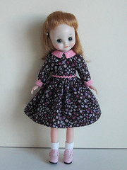 pink and black dress (INOMI) Tags: doll handmade craft fashiondoll dolldress tinybetsy dollcloth betsymccall8