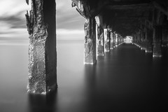 Lahaina Pier 2 (JonPac) Tags: 2012 blackandwhite fineart hawaii ir lahaina longexposure maui ocean pier timescapes monochrome motion paradise infrared colorado usa