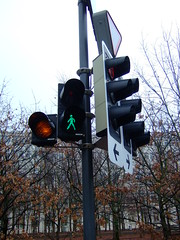 Green man (JohnSeb) Tags: switzerland trafficlight baden johnseb schweizjan12