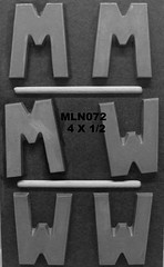 MLN072 (Chocolate Concepts) Tags: chocolate w letters m number numbers letter mold