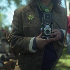 I See Me (BunnySafari) Tags: selfportrait colour film vintage selfie on yashicamat flamborough fpp porta160 bunnysafari christiesantiqueshow may2013 vintiquing inspiredbyvivian
