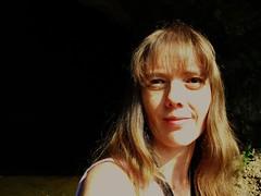 summer at cave entrance (LauraSorrells) Tags: selfportrait me jasper summertime 2011