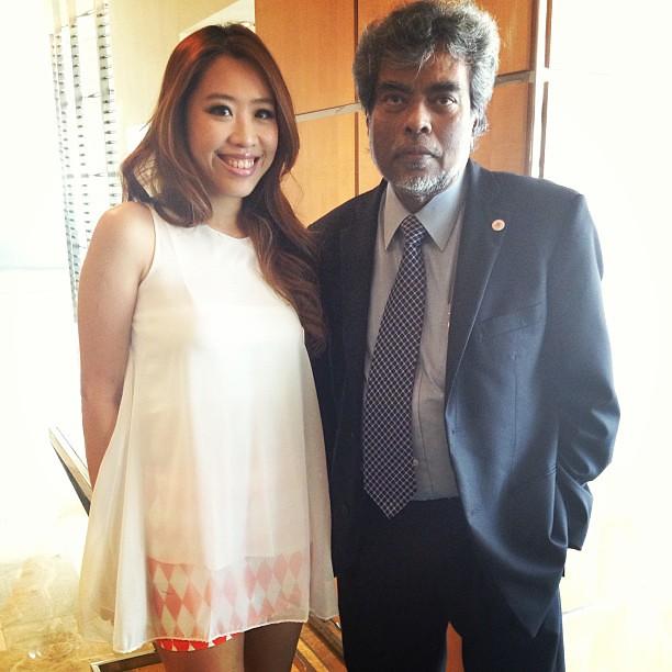 With my idol SUBHAS ANANDAN!! #missworldsingapore
