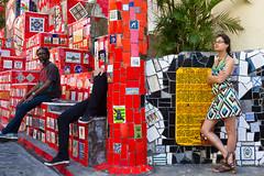 Hidden (Rio de Janeiro, Brazil) (slawekkozdras) Tags: life street travel brazil people colour riodejaneiro staris selaron