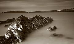 Poppit Sands (ttrendell) Tags: bw seascape beach sepia wales canon sands beachscape poppit nd110 5dmk2