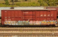 HANK SILK STAT QUALM (The Braindead) Tags: art minnesota train bench photography graffiti painted tracks minneapolis rail explore beyond the