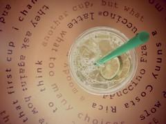 that first cup (Jeltsje W. Juhl) Tags: green table lemon drink lemonade starbucks grn tisch trinken zitrone limette strohhalm iphoneography uploaded:by=flickrmobile flickriosapp:filter=nofilter