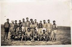Desert pics - SAAF Squadron rugby team the 'B Flight Scruffs' Cpl R Harding 5th from left back row 1941-1942 (KevinSmithCape) Tags: b back team desert pics rugby flight row 5th ralph harding cpl squadron scruffs saaf 19411942 ralphharding bflight