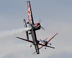 The Blades (Jez B) Tags: show car plane airplane flying team wings display aircraft air wheels flight aeroplane surrey 300 extra blades dunsfold aerobatics the airobatics