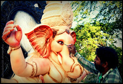 most awaited Ganpati Festival preparation in Maharashtra-India (Vaibhav D. Deshmukh) Tags: india art festival worship artist god celebration clay ganesh painter bappa ganpati vaibhav vinayak morya siddhivinayak gajanan lambodhar vakratunda