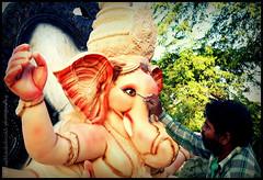 most awaited Ganpati Festival preparation in Maharashtra-India (Vaibhav D. Deshmukh) Tags: india art festival worship artist god celebration clay ganesh painter bappa ganpati vaibhav vinayak morya siddhivinayak gajanan lambodhar vakratunda