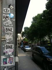 IN PARIS_________________________ (BOUCHE D'ÉGOUT) Tags: street urban streetart paris art collage stickers bat urbanart 75 adhesive rue autocollant maro bne 720 flm rige mal1