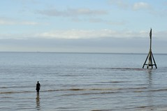 AnotherPlace (Tony Tooth) Tags: sea sculpture statue liverpool nikon lancashire gormley crosby anotherplace d90