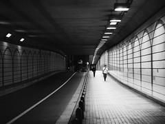 Yin and Yang (marco ferrarin) Tags: road street autumn light shadow blackandwhite bw japan night tokyo walk streetphotography olympus line september shade roppongi curve yinandyang omd 陰陽 em5