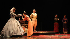 (L to R) Christiane Noll (Anna), Grace Matayoshi (Royal Princess), Paul Nakauchi (The King of Siam), Alan Ariano (The Kralahome) and Tami Swartz (Lady Thiang) in The King and I produced by Music Circus at the Wells Fargo Pavilion August 6-11, 2013. Photo