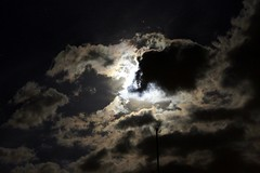Moon 14th April 2014 Manual (1) (Chris.,) Tags: moon silhouette night clouds dark fullmoon craters nightsky redsky manualfocus clearsky rotherham tvariel canonefs55250mmf456is canoneos1100d canon1100d