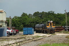 Through the Industrial Area (The Industrial Railfan) Tags: industry spur triangle branch florida fl local fastener jacksonvillefl csxtransportation branchline mp15ac industrialswitching csxt1152