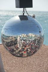 Mirror Ball (Mrs Bs Photos) Tags: beach canon brighton mirrorball
