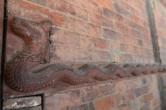 Snake ornament on the Basantapur Tower's façade