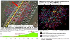 3D Mapping of linearly-vortical structure fields of stresses and deformations by 3D GeoSEIST Method of decoding aerial image of a railroad tracks (Jaroslove Bondarenko) Tags: stress folds strain railroadtracks satelliteimage faults deformations fractures geophysicalfield shearzones 4dgeoseistomography geodynamiczones spectralbrightnessfield 4dgeoseisvolumetricmodel spacetime structuregeodynamic stresslineaments