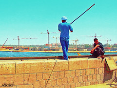 One of the individuals catch fish highest in #Assiut Barrage Ibrahim Pasha  ( ) Tags:   assiut