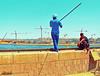 One of the individuals catch fish highest in #Assiut Barrage Ibrahim Pasha — (محمد الجزار) Tags: محمد فليكر assiut أسيوط الجزار الترعة الابراهيمية
