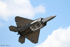 Lockheed Martin F-22 Raptor (Jesse Pells) Tags: airplane demo fire flying fighter aircraft smoke flames flight jet airshow heat usaf westover canonef100400mmf4556lisusm westoverarb lockheedmartinf22raptor canoneod7d westoverma greatnewengladairshow2015