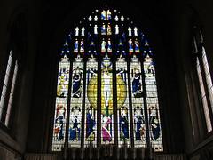 Coventry - Holy Trinity Church (pefkosmad) Tags: uk england church window modern contemporary interior stainedglass coventry chancel stainedglasswindow anglican warwickshire postwar holytrinitychurch placeofworship churchofengland eastwindow sirniniancomper brideswindow