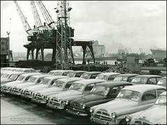 4035 AMN Port Škoda 440 cars Port Gdynia Zarzad portu Gdynia 1960. Ul. Rotterdamska 9 Polska (Morton1905) Tags: cars port 9 polska 440 ul 1960 gdynia 4035 amn portu škoda zarzad rotterdamska