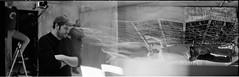 On Set (colinpoe) Tags: blackandwhite bw distortion film analog mediumformat movie doubleexposure trix surreal synth 6x9 trippy movieset behindthescenes bts onset trix400 medalist blackmagic doubleframe modularsynth medalistii blackmagiccinemacamera popmeetsthevoid williamcusick