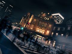 Flow around Tokyo Station (taketan (Takeshi Tanaka)) Tags: japan night flow lumix tokyo    tokyostation   m43 dmcgx7