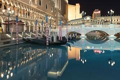 0415 Venice In Las Vegas (Hrvoje Simich - gaZZda) Tags: water city reflections bridge lamps street boats gondola outdoor night le blue old fake lasvegas nevada usa nikon nikond750 sigmaart2414 gazzda hrvojesimich